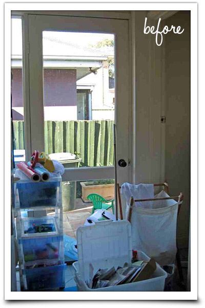 Unorganised laundry area