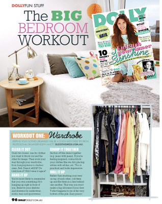 Dolly magazine article bedroom organisation