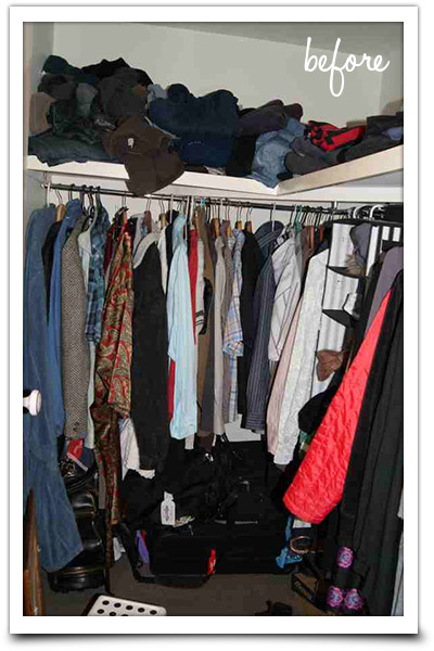 Messy clothing storage