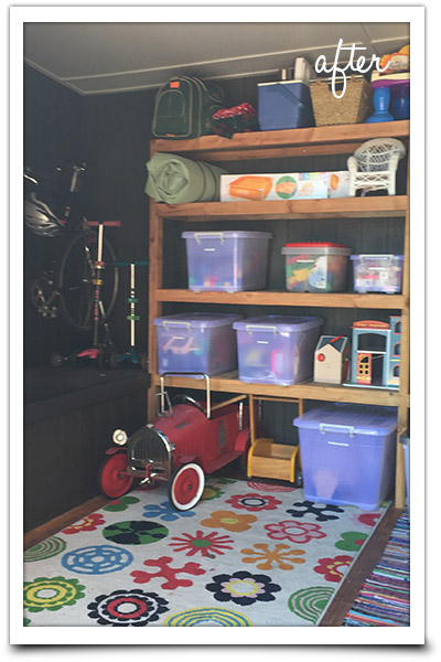 Tidy kids storage area
