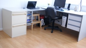 declutter home office organised work space