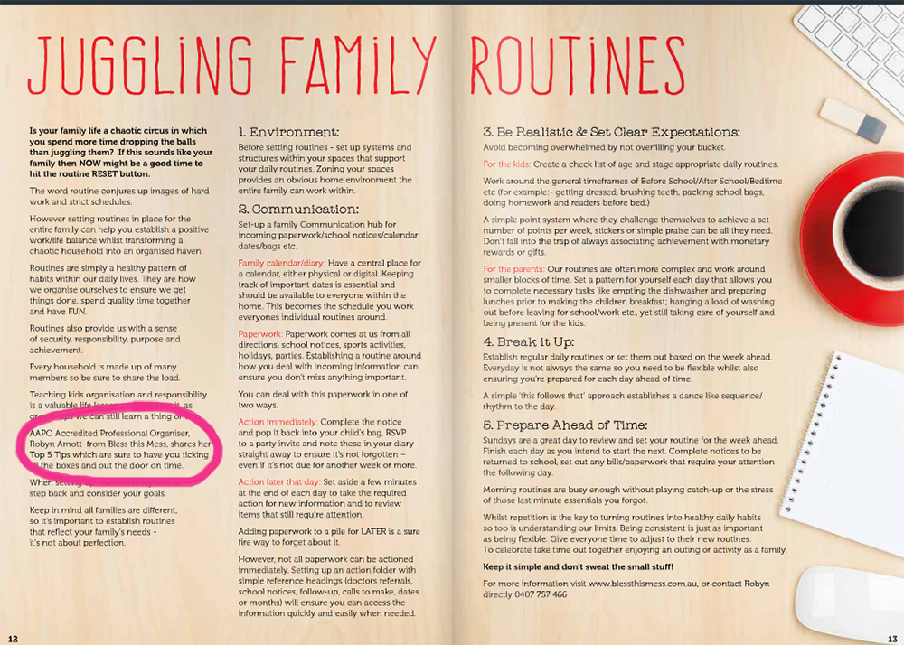 robyn amotts top family routine tips