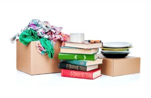 clearing clutter with charity donations
